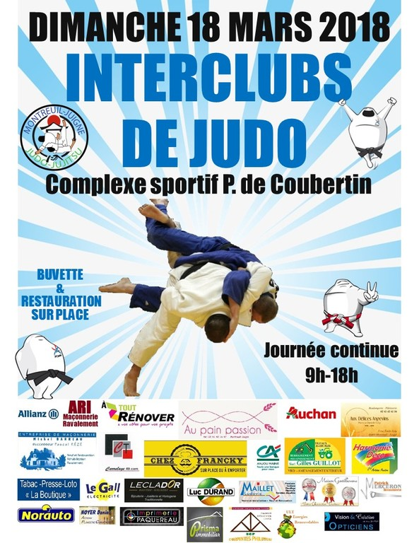 INTERCLUBS 2018 : horaires